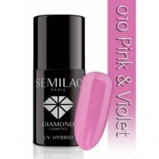 UV Hybrid Semilac 010 Pink & Violet 7 ml