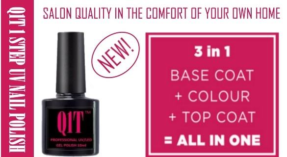 Q1T 1 step UV nail polish