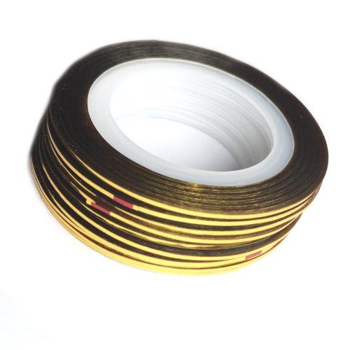 Gold Striping Tape Nail Art: 2mm Nail Striping Tape- Gold