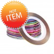 1mm Nail Striping Tape- mix of 10 colours
