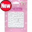 3d nail stickers white BLE261J