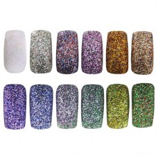 Glitter, pots- mix of 10 colours