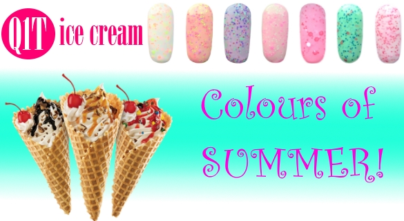 Q1T ice cream- UV nail polish