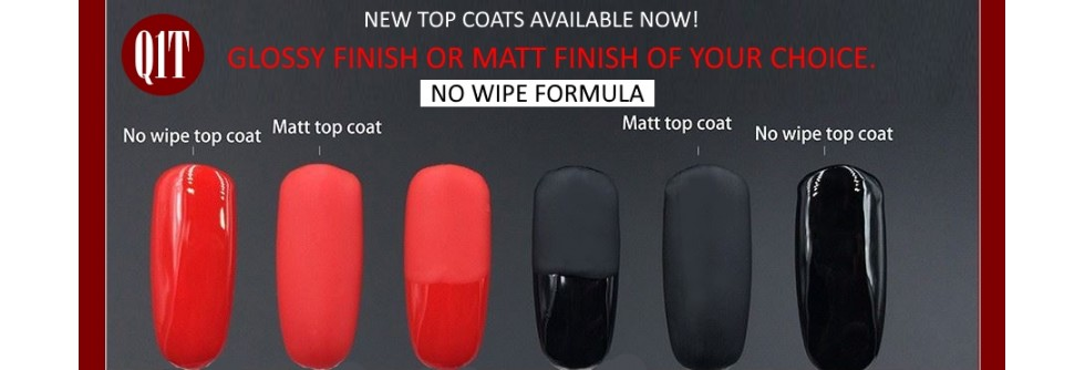 Q1T UV nail polish top coats