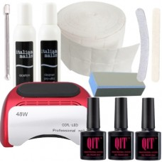 Q1T 3 step UV nail polish starter kit, 48W  led lamp